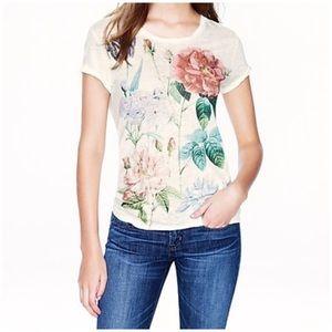 J. Crew • linen rose shirt sleeve tee shirt top